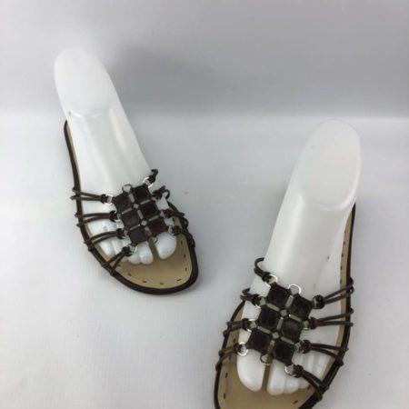ALBERTA FERRETI Brown Sandals US 7.5 Eur 37.5 7018 a