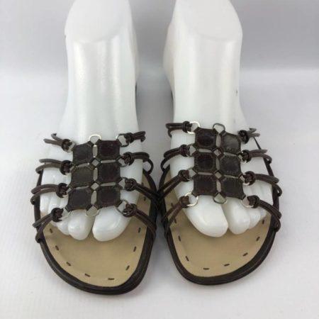 ALBERTA FERRETI Brown Sandals US 7.5 Eur 37.5 7018 b