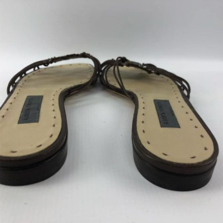 ALBERTA FERRETI Brown Sandals US 7.5 Eur 37.5 7018 d
