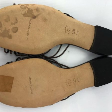 ALBERTA FERRETI Brown Sandals US 7.5 Eur 37.5 7018 f