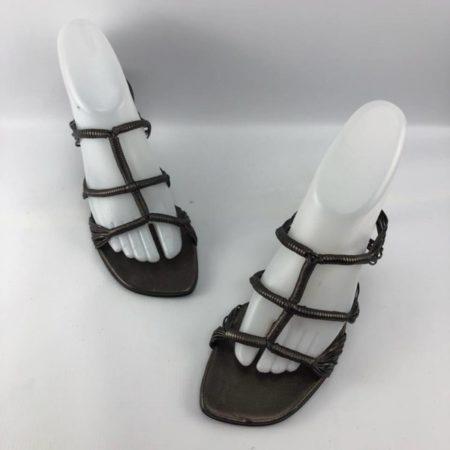 BRUNO MAGLI Bronze Heels US 7.5B Eur 37.5B 3963 a