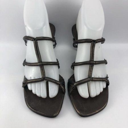 BRUNO MAGLI Bronze Heels US 7.5B Eur 37.5B 3963 b