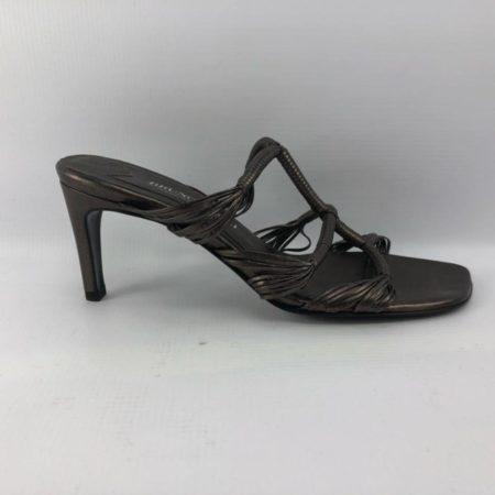 BRUNO MAGLI Bronze Heels US 7.5B Eur 37.5B 3963 f