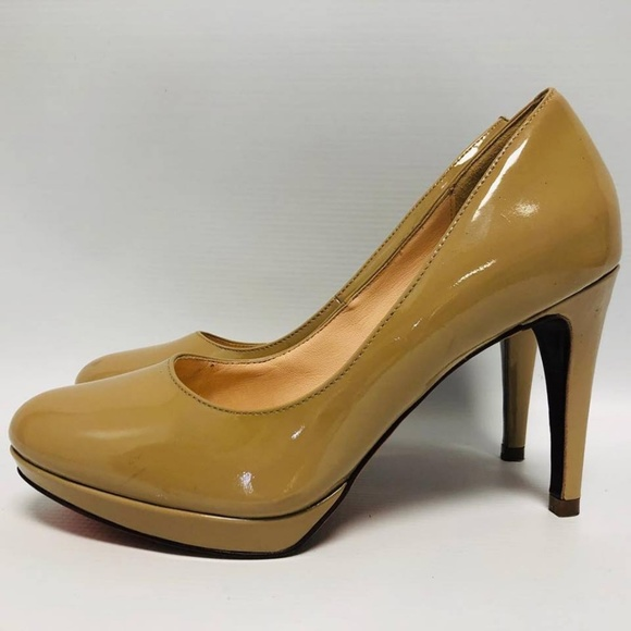 COLE HAAN Nude Patent Leather Pumps Size US 6.5 Eur 36.5 6167 c
