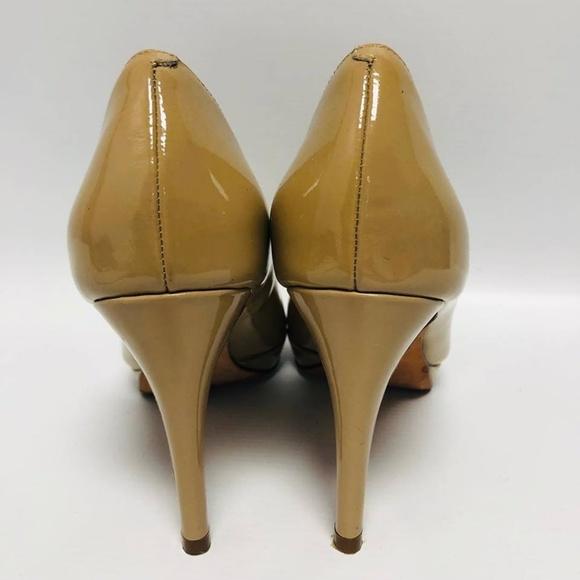 COLE HAAN Nude Patent Leather Pumps Size US 6.5 Eur 36.5 6167 d