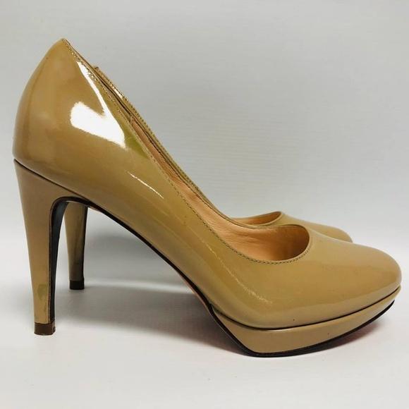 COLE HAAN Nude Patent Leather Pumps Size US 6.5 Eur 36.5 6167 e