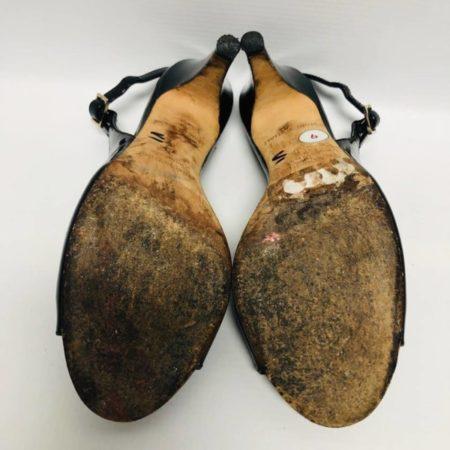 KATE SPADE Black Open Toe Heels US 6 Eur 36 2085 f