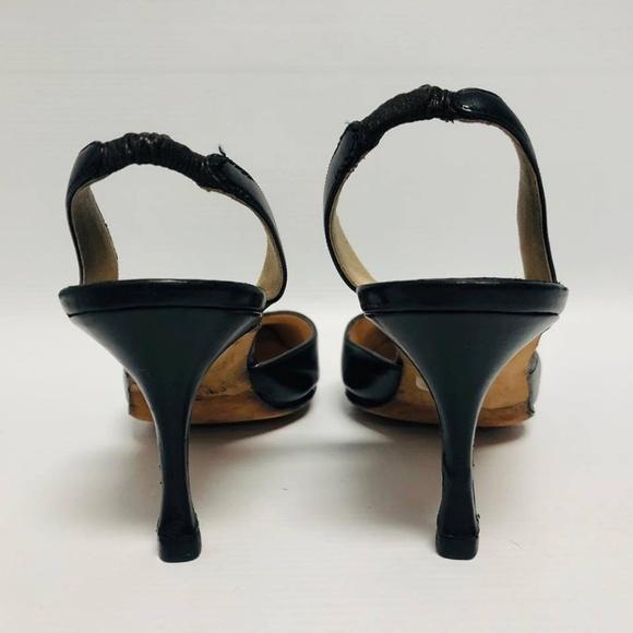 MANOLO BLAHNIK Black Heels Size US 6 Eur 36 1140 c