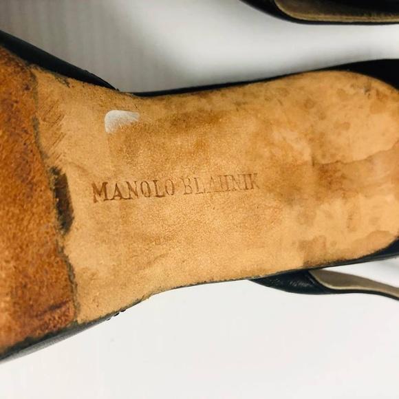 MANOLO BLAHNIK Black Heels Size US 6 Eur 36 1140 f