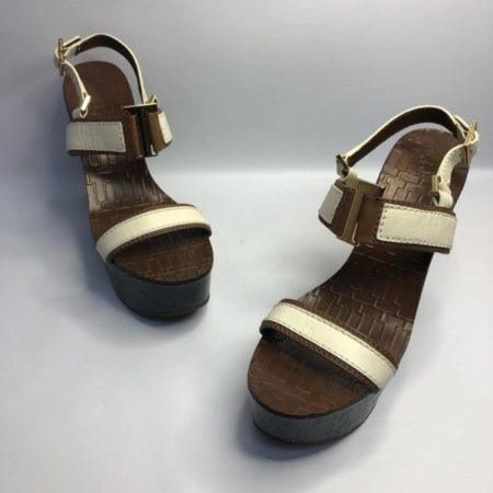 TORY BURCH Black Brown Wedges US 10.5M Eur 37.5 TM001 a