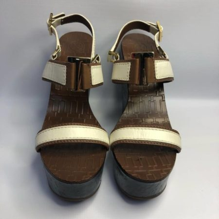 TORY BURCH Black Brown Wedges US 10.5M Eur 37.5 TM001 b