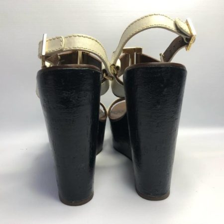 TORY BURCH Black Brown Wedges US 10.5M Eur 37.5 TM001 d