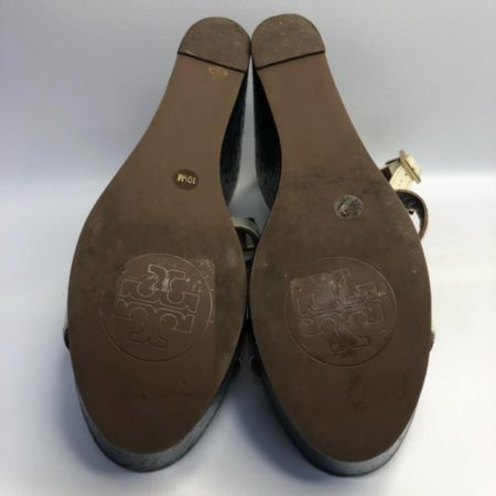 TORY BURCH Black Brown Wedges US 10.5M Eur 37.5 TM001 f