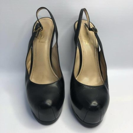 YSL YVES SAINT LAURENT Black Heels US 8 Eur 38 4090 b