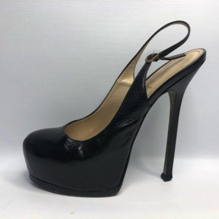fa88713bed YVES SAINT LAURENT Black Heels US 8 Eur 38 #4090