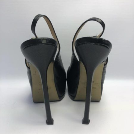 YSL YVES SAINT LAURENT Black Heels US 8 Eur 38 4090 d