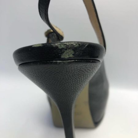 YSL YVES SAINT LAURENT Black Heels US 8 Eur 38 4090 e