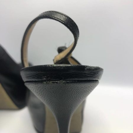 YSL YVES SAINT LAURENT Black Heels US 8 Eur 38 4090 f