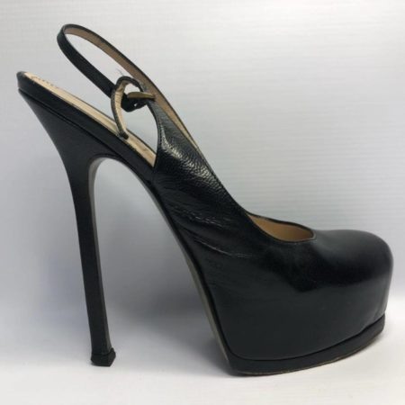 YSL YVES SAINT LAURENT Black Heels US 8 Eur 38 4090 g
