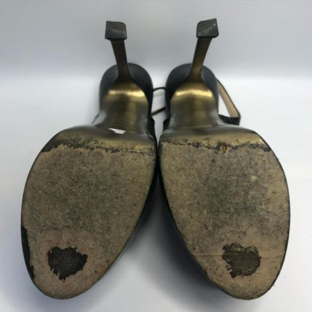 YSL YVES SAINT LAURENT Black Heels US 8 Eur 38 4090 h