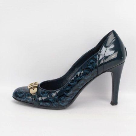 GUCCI Teal Heels Size 7.5 Eur 37.5 10994 c