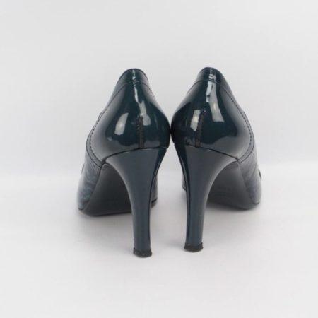 GUCCI Teal Heels Size 7.5 Eur 37.5 10994 d