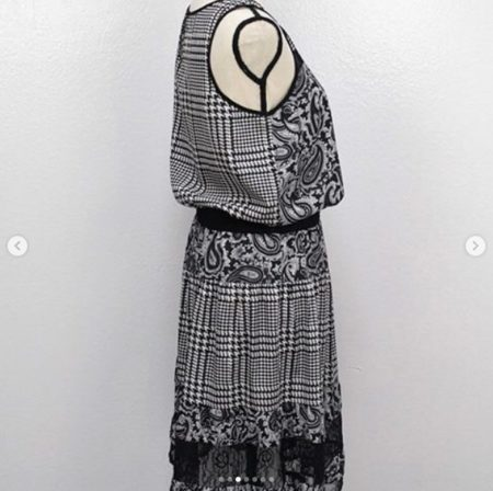MICHAEL KORS Black White Dress Size S 9455 c