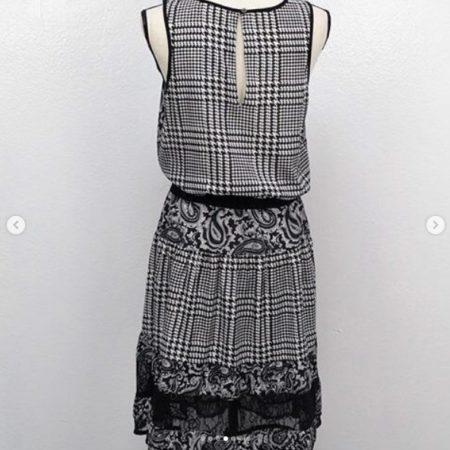 MICHAEL KORS Black White Dress Size S 9455 d