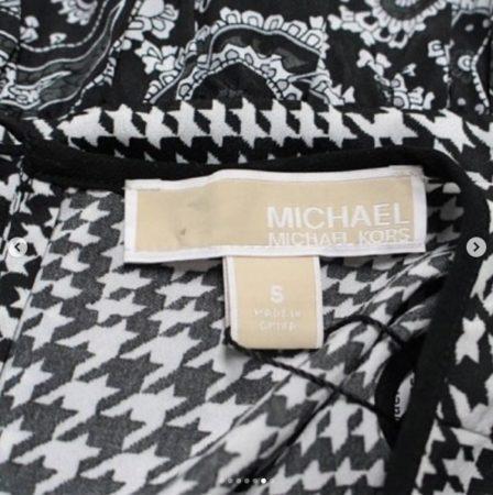 MICHAEL KORS Black White Dress Size S 9455 f