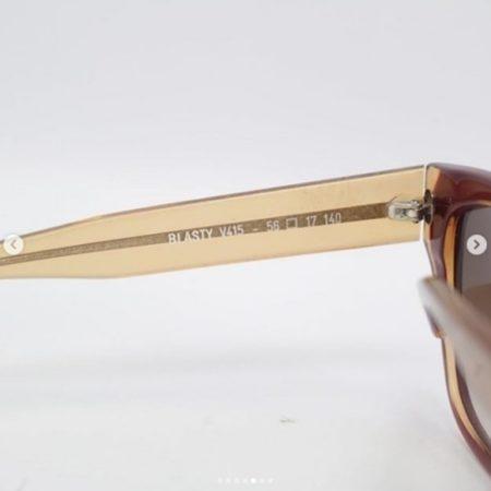 THIERRY LASRY Orange Brown Sunglasses 6749 e