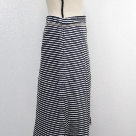TORY BURCH Navy Blue White Skirt size 8 8721 b