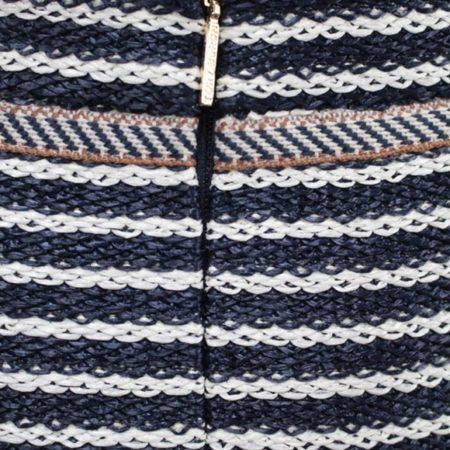 TORY BURCH Navy Blue White Skirt size 8 8721 c