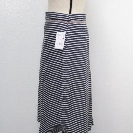 TORY BURCH Navy Blue White Skirt size 8 8721 e