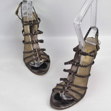 VALENTINO Bronze Strappy Heels Size 8 Eur 38 10985 a