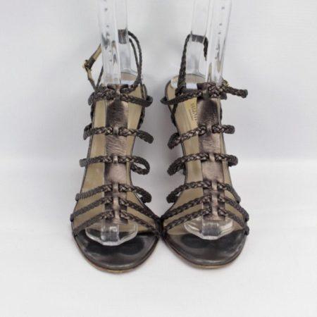 VALENTINO Bronze Strappy Heels Size 8 Eur 38 10985 b