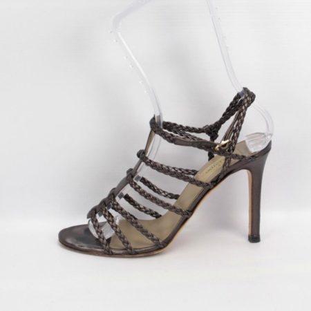 VALENTINO Bronze Strappy Heels Size 8 Eur 38 10985 c