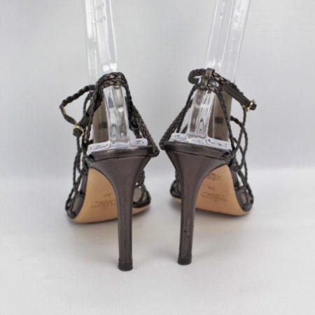 VALENTINO Bronze Strappy Heels Size 8 Eur 38 10985 d