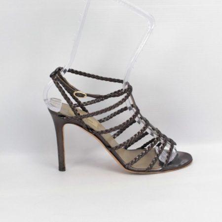 VALENTINO Bronze Strappy Heels Size 8 Eur 38 10985 e