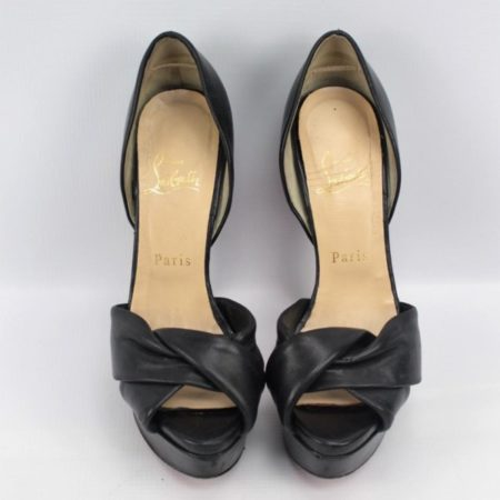 CHRISTIAN LOUBOUTIN Black Heels Size 7.5 Eur37.5 7166 b