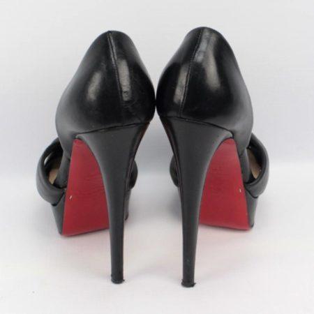 CHRISTIAN LOUBOUTIN Black Heels Size 7.5 Eur37.5 7166 d