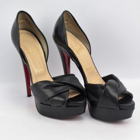 CHRISTIAN LOUBOUTIN Black Heels Size 7.5 Eur37.5 7166 f
