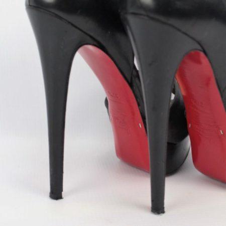 CHRISTIAN LOUBOUTIN Black Heels Size 7.5 Eur37.5 7166 h