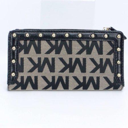 MICHAEL KORS Black Studded Wallet 8771 b