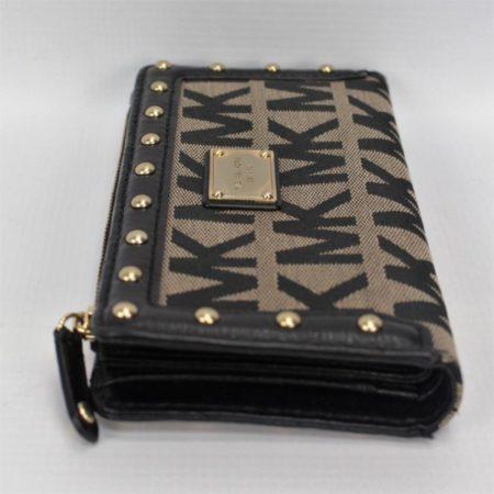 MICHAEL KORS Black Studded Wallet 8771 c