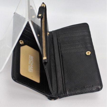 MICHAEL KORS Black Studded Wallet 8771 e