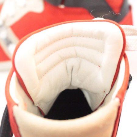 BARBARA BUI Red Black Suede High Top Sneakers 11070 d