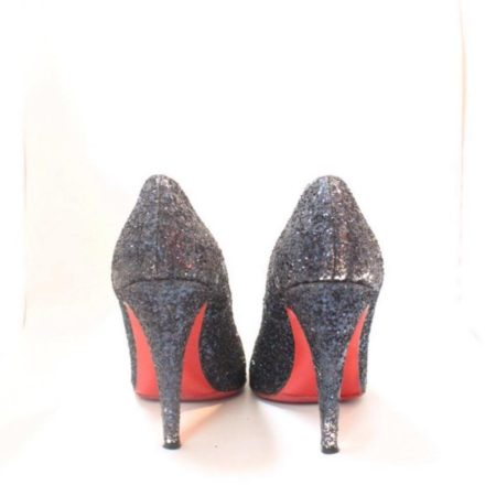 CHRISTIAN LOUBOUTIN Blue Sparkly Heels 5973 b