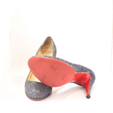 CHRISTIAN LOUBOUTIN Blue Sparkly Heels 5973 c