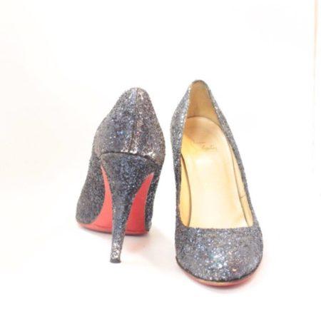 CHRISTIAN LOUBOUTIN Blue Sparkly Heels 5973 d