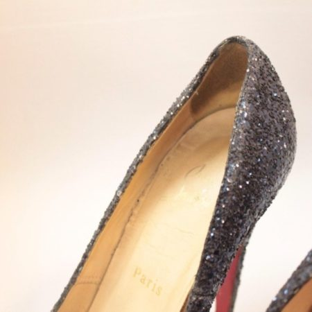 CHRISTIAN LOUBOUTIN Blue Sparkly Heels 5973 g